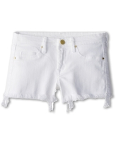 Blank NYC Kids Cut Off Shorts in White Lines (Big Kids) (White Lines) Girl's Shorts