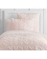 Monique Lhuillier Velvet Pintuck Quilt, Twin, Blush