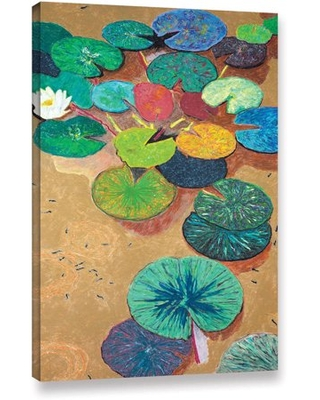"""ArtWall Allan Friedlander """"White Lily"""" Gallery-wrapped Canvas"""
