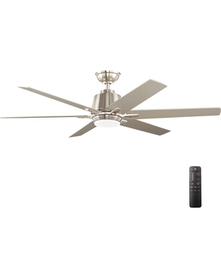 Bargains on home decorators collection kensgrove 54 in integrated home decorators collection kensgrove 54 in integrated led indoor brushed nickel ceiling fan with light aloadofball Image collections