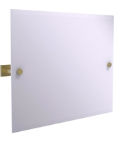 Allied Brass Montero Collection Contemporary Frameless Landscape Rectangular Tilt Mirror with Beveled Edge in Satin Brass