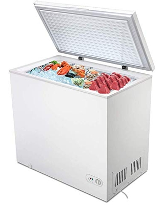 Electactic Chest Freezer 7.0 Cubic Feet Compact Freezer White Freezer Chest with Removable Basket Free Standing Top open Door Adjustable Temperature Perfect for Home Dorm, Office,Bar,Basement,Kitchen