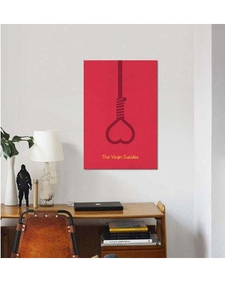 """East Urban Home Minimalist 'The Virgin Suicides' Graphic Art Print on Canvas EBHU8368 Size: 12"""" H x 8"""" W x 0.75"""" D"""