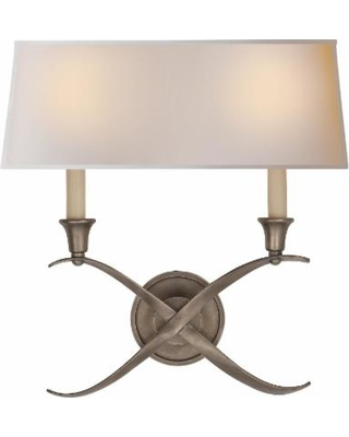 Visual Comfort and Co. E. F. Chapman Cross Bouillotte 15 Inch Wall Sconce - CHD 1191AN-NP