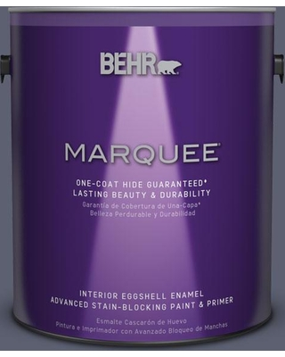 BEHR MARQUEE 1 gal. #S550-6 Mysterious Night One-Coat Hide Eggshell Enamel Interior Paint and Primer in One