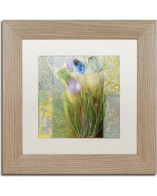 """Trademark Fine Art 'Emily II' by Color Bakery Framed Graphic Art ALI4294-T1 Size: 11"""" H x 11"""" W x 0.5"""" D Mat Color: White"""
