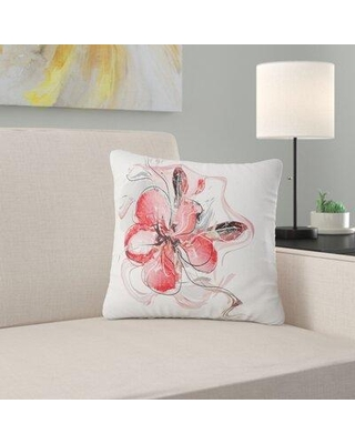 """East Urban Home Animal Floral Watercolor Sketch Pillow FSCI2718 Size: 16"""" x 16"""" Product Type: Throw Pillow"""