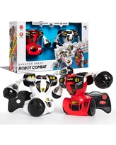 Sharper Image Remote Control Robot Combat Set, Multiplayer RC Toy for Kids, Built-In LED Lights and Sound Effects