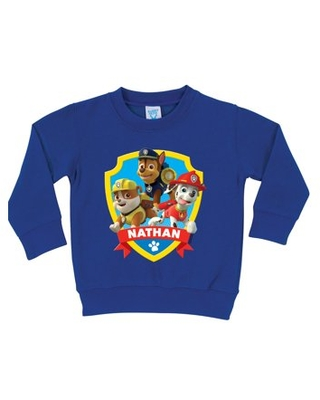 Personalized PAW Patrol Saves the Day Royal Blue Pullover Boys' Sweatshirt