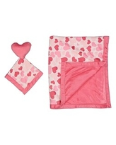 Baby Blanket and Matching Toy Security Blanket Set (Pink)