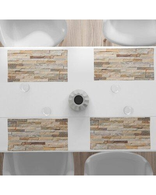 """East Urban Home 18.5"""" Placemat, Polyester in White, Size 12""""H X 18""""W 