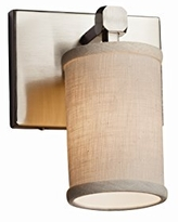 Justice Design Group Lighting GLA-8421-26-CLRT-MBLK Veneto Luce Clear Textured Tetra 1-Light Wall Sconce Matte Black Square w//Rippled Rim Shade