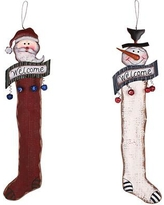 AttractionDesignHome 2 Piece Christmas Decorations Stocking Shaped Ornament Set HM1163