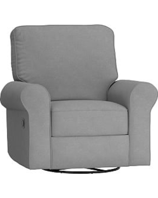 Fine Deals On Comfort Swivel Glider Recliner Linen Blend Charcoal Pabps2019 Chair Design Images Pabps2019Com