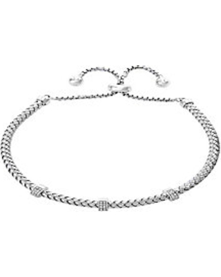 Effy 925 Sterling Silver & Diamond Slider Bracelet