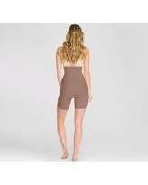 Assets by Spanx Women's Remarkable Results High Waist Midthigh Thigh Shapers - Café Au Lait S