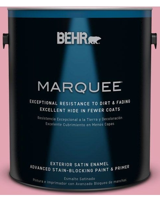 BEHR MARQUEE 1 gal. #P140-3 Love at First Sight Satin Enamel Exterior Paint and Primer in One