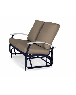 Telescope Casual Belle Isle Glider Bench with Cushions B54N01 Frame Color: Snow Cushion Color: Sahara