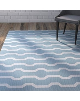 Wrought Studio Uresti Decorative Holiday Geometric Print Light Blue Indoor/Outdoor Area Rug VRKG4528 Rug Size: Rectangle 3' x 5'