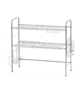 Haitral Stainless Steel Adjustable 2 Tier Dish Rack NX-BOWLSHELF02