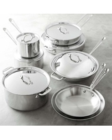 All-Clad Tri-Ply Stainless-Steel Set, 14-Piece