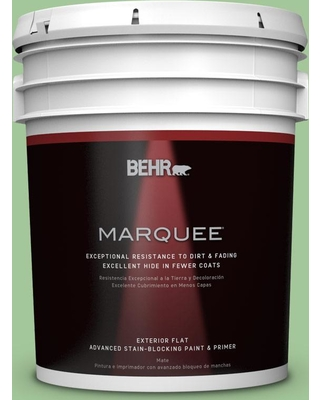 BEHR MARQUEE 5 gal. #M390-4 Gingko Flat Exterior Paint and Primer in One
