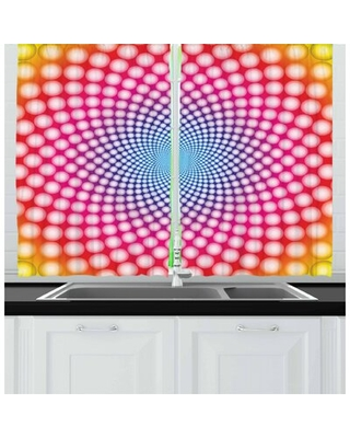 Psychedelic 2 Piece Kitchen Curtain Set East Urban Home