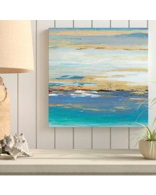 "Highland Dunes 'Sea Mystery Panel II' Acrylic Painting Print on Canvas BF163576 Size: 18"" H x 18"" W x 1"" D"