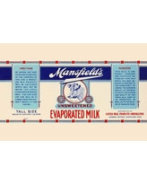 "Buyenlarge 'Mansfield's Unsweetened Evaporated Milk' Vintage Advertisement 0-587-33612-9 Size: 24"" H x 36"" W x 1.5"" D"