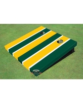 All American Tailgate Alternating Long Stripe Cornhole Board ALMT1074 Color: Yellow and Green