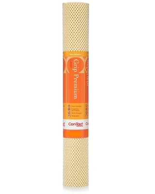 Con-Tact Grip Premium 12 in. x 4 ft. Almond Color Non-Adhesive Thick Grip Drawer and Shelf Liner (6-Rolls), Brown