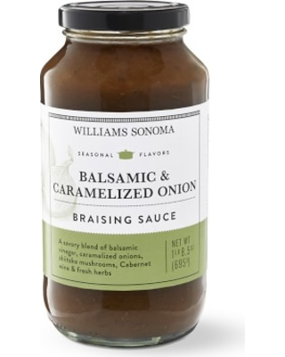Williams Sonoma Balsamic & Carmelized Onion Braising Sauce, Set of 2