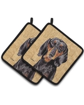East Urban Home Dachshund Wipe Your Paws Potholder EAAS4241