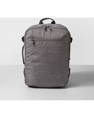 """34L Medium Hybrid 19"""" Convertible Backpack Heather Gray - Made By Design"""