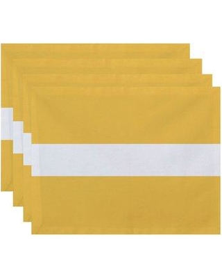 "Breakwater Bay Fernwood Stripe 18"" Placemat BRWT6925 Color: Yellow"
