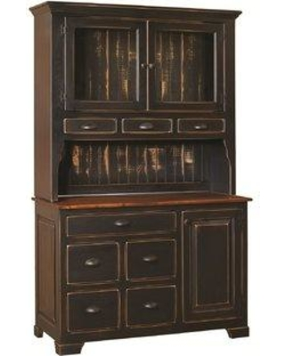 Shop August Grove Battersby Dining Hutch Wood Solid Wood In Black Size 80 H X 50 W X 20 D Wayfair Agtg2005 42182266