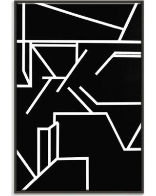 "George Oliver 'Geometric 1' Painting Print on Canvas GOLV4625 Size: 30"" H x 20"" W x 2"" D Format: Floater Frame"