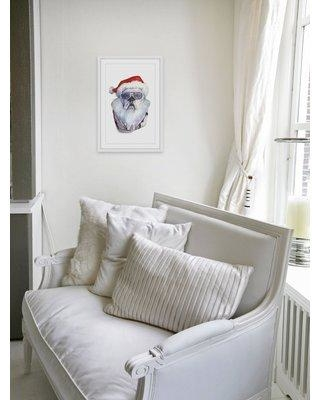 """Ivy Bronx 'Papa Noel's Coming' Framed Watercolor Painting Print IVYB8472 Size: 30"""" H x 20"""" W"""
