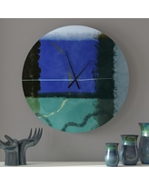 Sales For Elated Abstract Metal Wall Clock Latitude Run Size Small