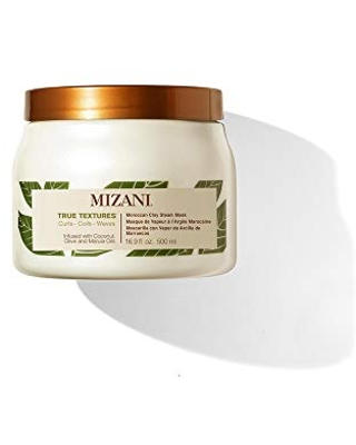MIZANI True Textures Moroccan Clay Steam Mask | Deeply Conditions & Nourishes | with Coconut Oil | for Curly Hair | 16.9 Fl Oz