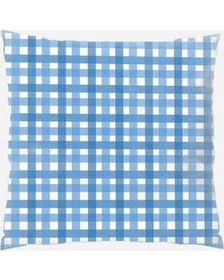 Rug Tycoon Gingham Throw Pillow PW-gingham-1522743 / PW-gingham-1522787 Color: Blue
