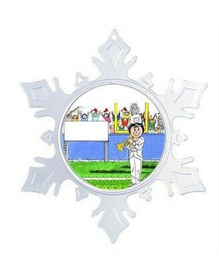 The Holiday Aisle® Personalized Friendly Folks Cartoon Snowflake Marching Band Trumpet Christmas Holiday Shaped Ornament X111116612