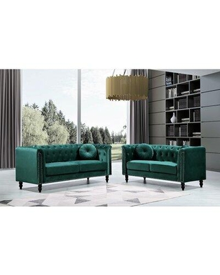 Everly Quinn Conners Living Room Set X113827713 Fabric: Green
