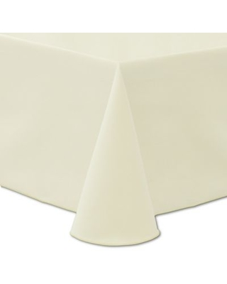 Ultimate Textile Twill 90-Inch x 156-Inch Oblong Tablecloth in Ivory