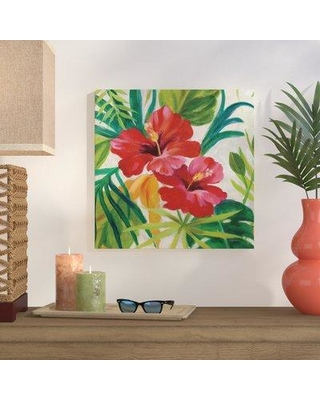 """Bay Isle Home 'Tropical Jewels II v2 Crop' Acrylic Painting Print BYIL2261 Size: 36"""" H x 36"""" W x 1.5"""" D Format: Wrapped Canvas"""