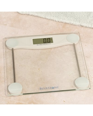 Bluestone Digital Glass Bathroom Scale with LCD Display Bluestone