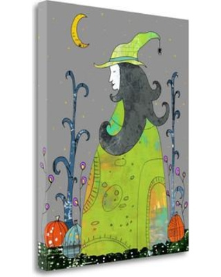 "Tangletown Fine Art 'Witch in a Green Dress' Graphic Art Print on Canvas SBSO1186-1821c Size: 26"" H x 21"" W"