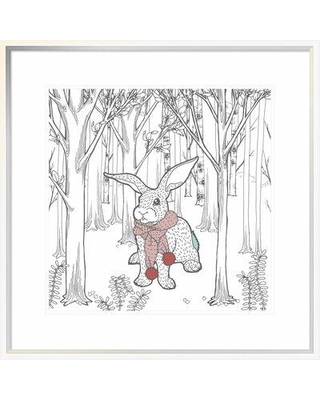 """East Urban Home 'Color the Forest Color XI' Framed Graphic Art Print FUVN9109 Size: 18"""" H x 18"""" W"""