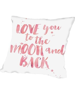 East Urban Home Love You to the Moon and Back Throw Pillow FTSC7875