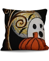 The Holiday Aisle Flipping for Fall Ooky Spooky Geometric Euro Pillow HLDY6605 Color: Black